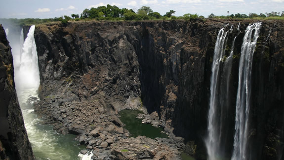 Victoria Falls at low water